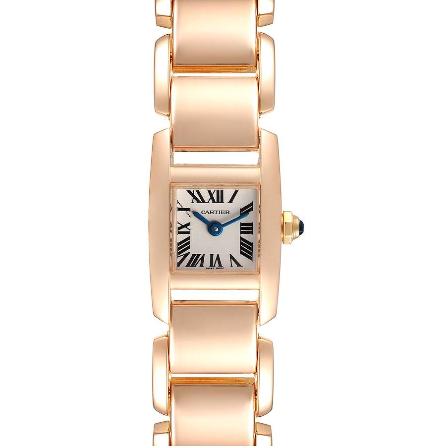 Cartier Tankissime Silver Dial Rose Gold Ladies Watch W650018H Box Papers SwissWatchExpo
