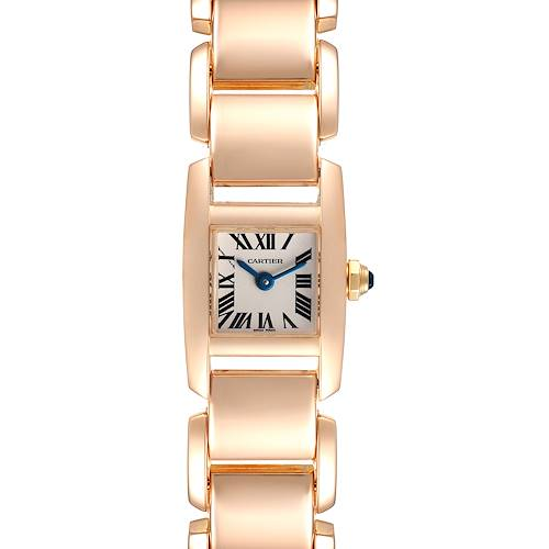Photo of Cartier Tankissime Silver Dial Rose Gold Ladies Watch W650018H Box Papers