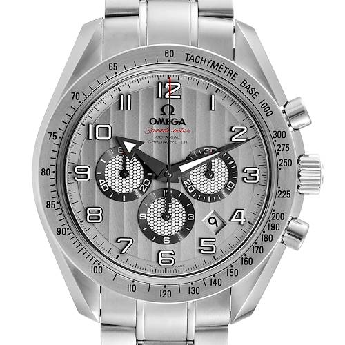 Photo of Omega Speedmaster Broad Arrow Silver Dial 321.10.44.50.02.001 Box Cards