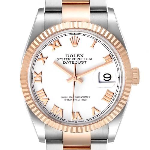 Photo of Rolex Datejust 36 Steel EveRose Gold Watch 126231 Box Card Unworn