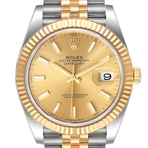 Photo of Rolex Datejust 41 Steel Yellow Gold Jubilee Bracelet Watch 126333 Unworn