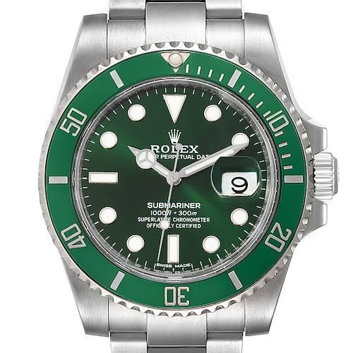 Photo of Rolex Submariner Hulk Green Dial Bezel Steel Mens Watch 116610LV Unworn
