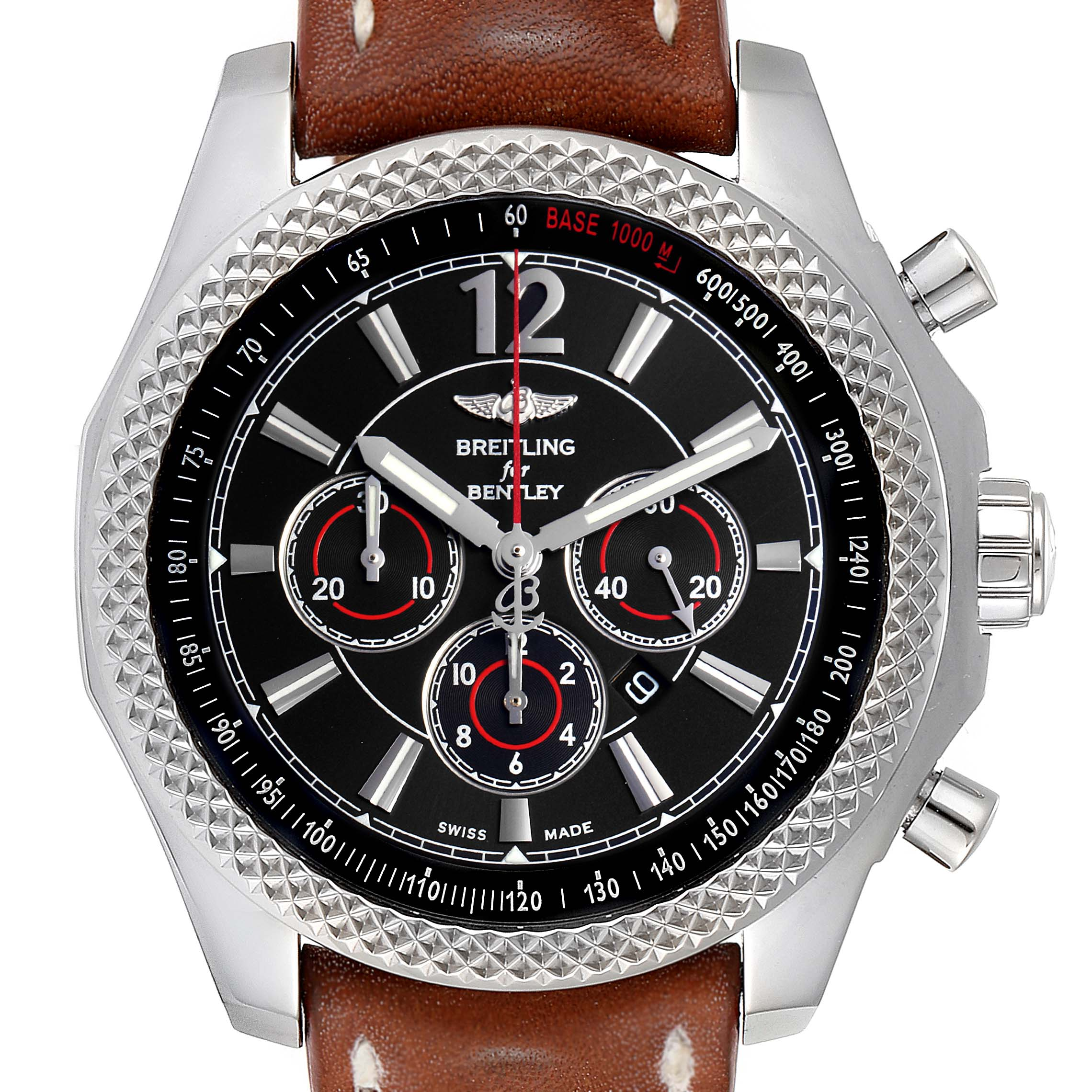 Photo of Breitling Bentley Barnato 42 Chronograph Black Dial Mens Watch A41390
