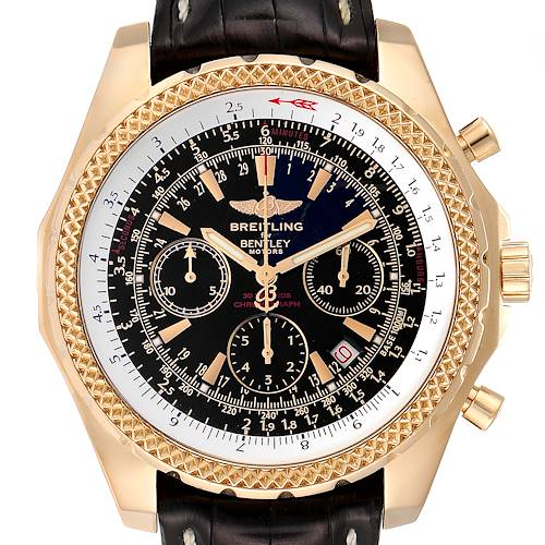 Photo of Breitling Bentley Yellow Gold Black Dial Chronograph Watch K25362