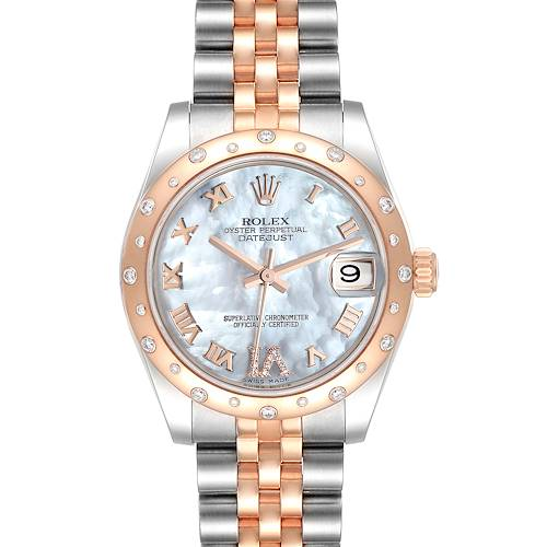 Photo of NOT FOR SALE Rolex Datejust 31 Midsize Steel Everose Gold Diamond Ladies Watch 178341 PARTIAL PAYMENT
