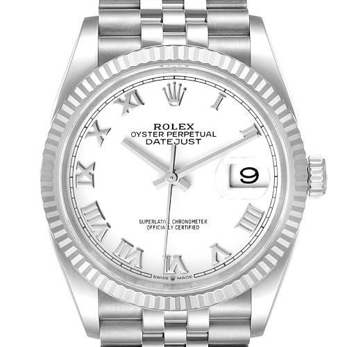 Photo of Rolex Datejust Steel White Gold Silver Dial Mens Watch 126234 Unworn