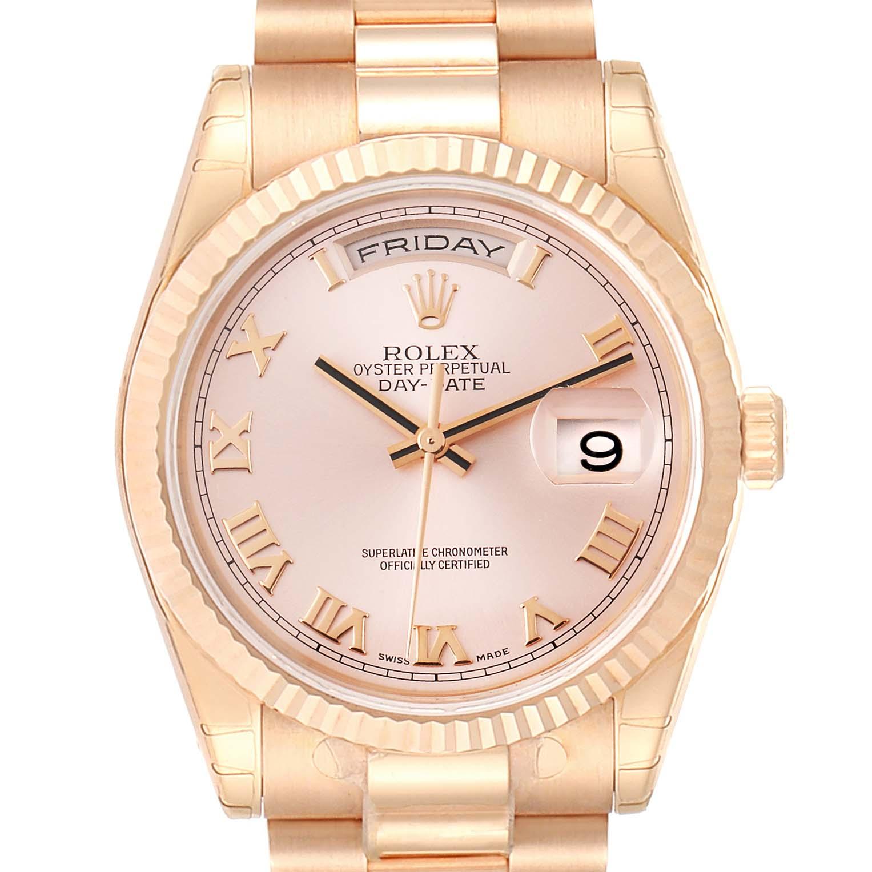 Rolex President Day Date 36 Everose Gold Mens Watch 118235 Unworn PARTIAL PAYMENT
