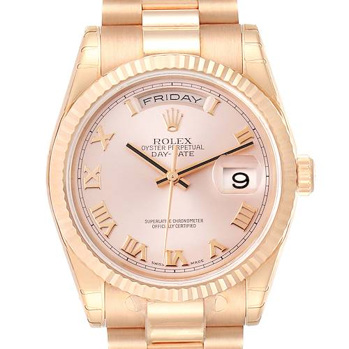 Photo of Rolex President Day Date 36 Everose Gold Mens Watch 118235 Unworn PARTIAL PAYMENT