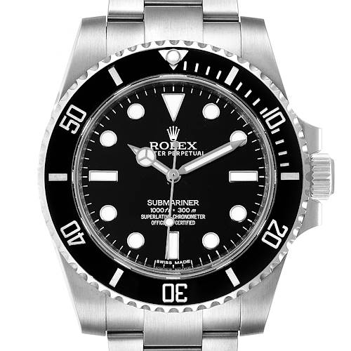 Photo of Rolex Submariner 40mm Black Dial Ceramic Bezel Steel Mens Watch 114060