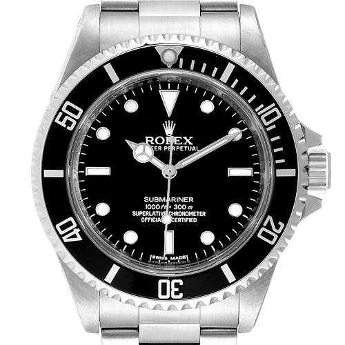 Photo of Rolex Submariner 40mm Non-Date 4 Liner Steel Steel Watch 14060 Box Card