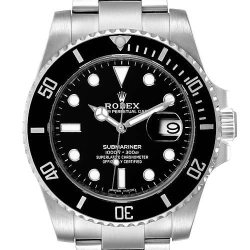 Photo of Rolex Submariner Black Dial Ceramic Bezel Steel Mens Watch 116610 Unworn