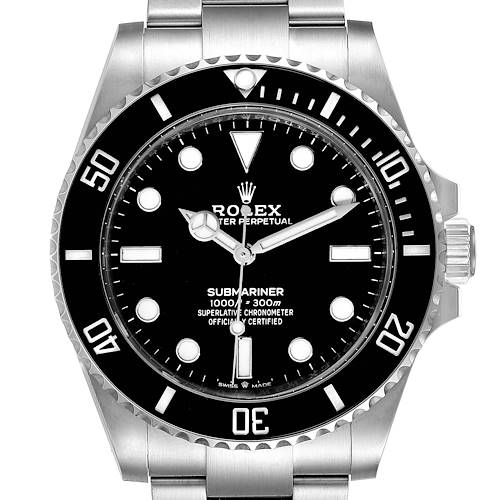 Photo of Rolex Submariner Non-Date Ceramic Bezel Steel Watch 124060 Unworn