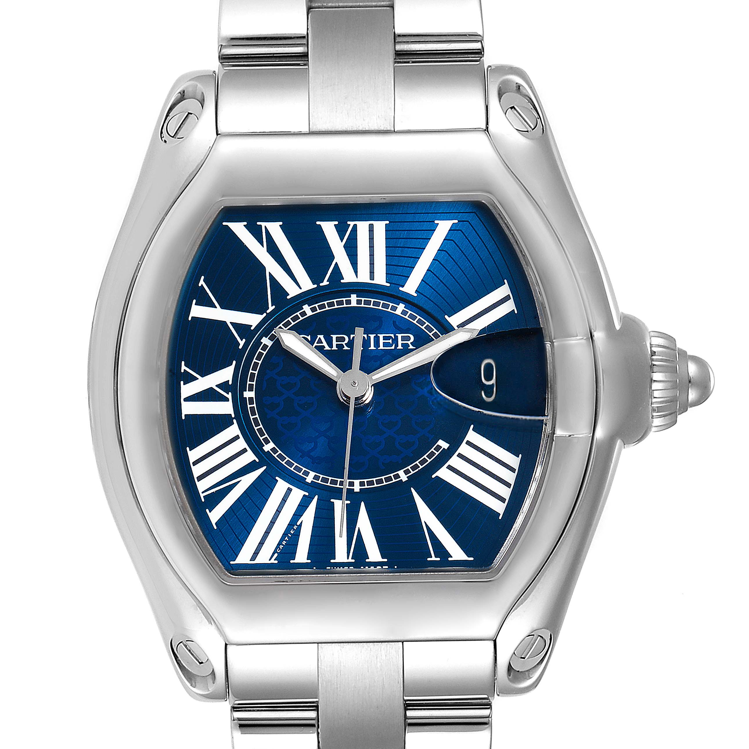 Cartier Roadster XL 100th Anniversary Blue Dial Mens Watch W6206012