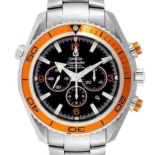 Photo of Omega Seamaster Planet Ocean XL Chrono Mens Watch 2218.50.00 Box Card