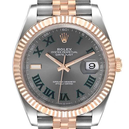 Photo of Rolex Datejust 41 Steel Everose Gold Wimbledon Dial Watch 126331 Unworn