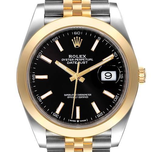 Photo of Rolex Datejust 41 Steel Yellow Gold Black Dial Mens Watch 126303 Unworn
