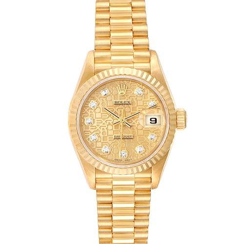 Photo of Rolex President Datejust Yellow Gold Diamond Dial Ladies Watch 79178