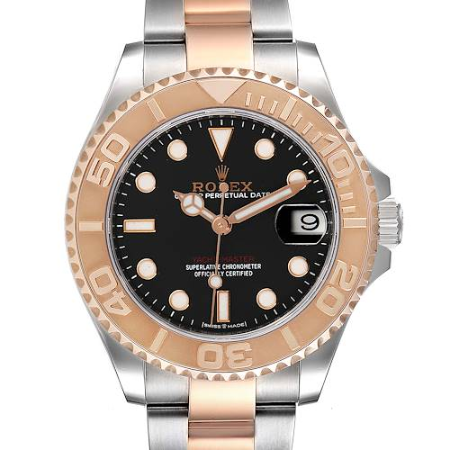 Photo of Rolex Yachtmaster 37 Midsize Steel Rose Gold Watch 268621 Box Card