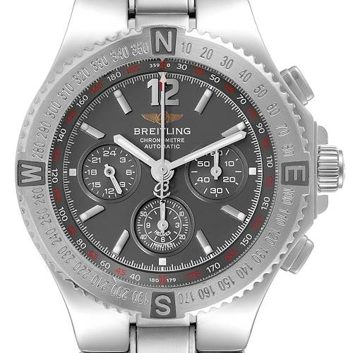 Photo of Breitling Hercules Gray Dial Chronograph Steel Mens Watch A39362