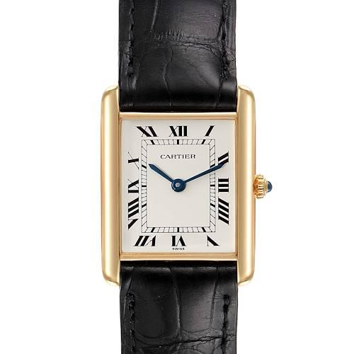 Photo of Cartier Tank Classic Paris Brown Strap 18k Yellow Gold Unisex Watch