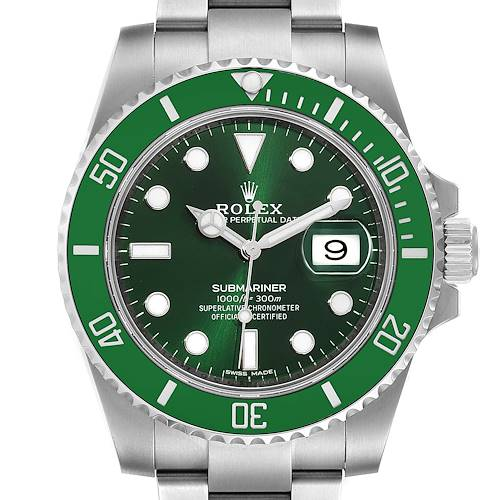 Photo of Rolex Submariner Hulk Green Dial Bezel Steel Mens Watch 116610LV Box Card
