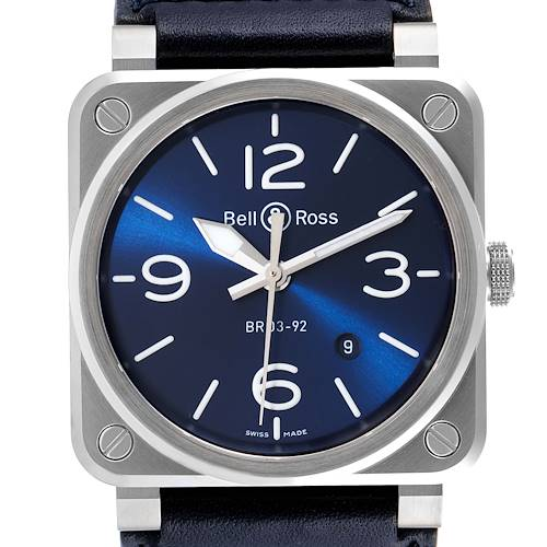 Photo of Bell & Ross Aviation Blue Dial Automatic Steel Mens Watch BR0392 Unworn