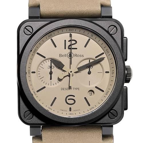 Photo of Bell & Ross Aviation Desert Type Chronograph Ceramic Watch BR0394 Unworn