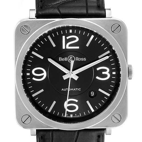 Photo of Bell & Ross Officer Black Dial Automatic Steel Mens Watch BRS92 Box Card