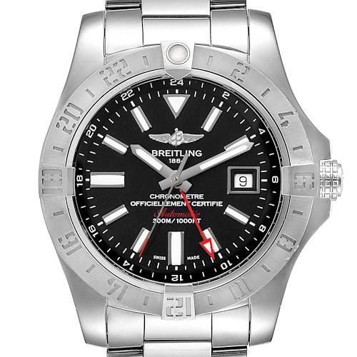 Photo of Breitling Aeromarine Avenger II GMT Black Dial Steel Mens Watch A32390