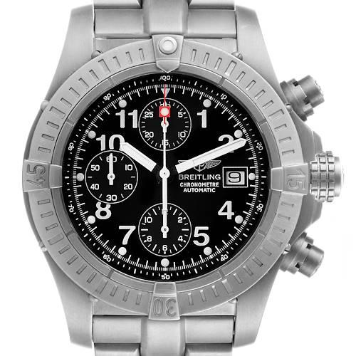 Photo of Breitling Avenger Black Dial Chronograph Titanium Watch E13360