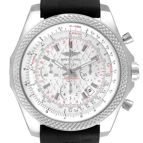 Photo of Breitling Bentley B06 Silver Dial Black Rubber Strap Watch AB0611 Box Card