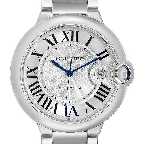 Photo of Cartier Ballon Bleu 42 Silvr Dial Automatic Steel Unisex Watch W69012Z4