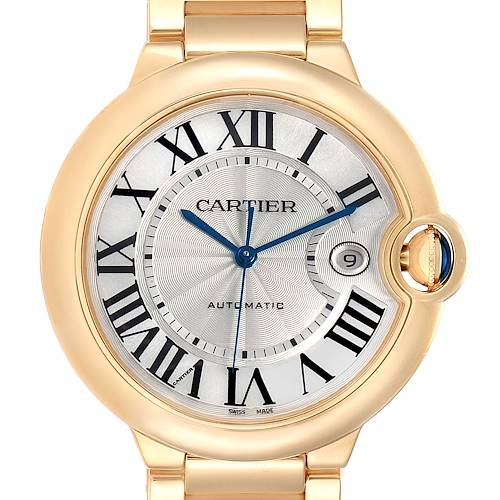 Photo of Cartier Ballon Bleu 42 Yellow Gold Automatic Mens Watch W69005Z2