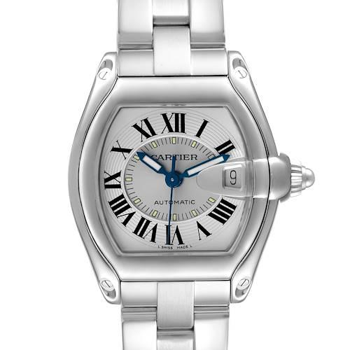 Photo of Cartier Roadster Silver Roman Dial Steel Mens Watch W62000V3
