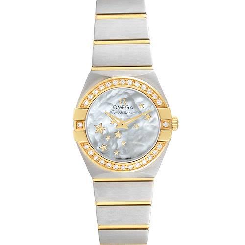 Photo of Omega Constellation Star Steel Yellow Gold Diamond Watch 123.25.24.60.05.001 Unworn
