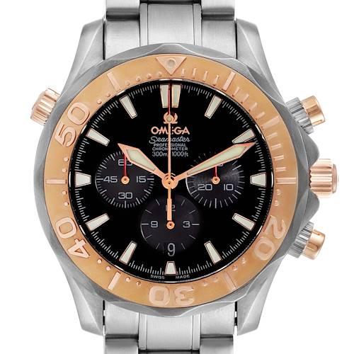 Photo of Omega Seamaster 300M Titanium Rose Gold Mens Watch 2294.52.00 Box Card