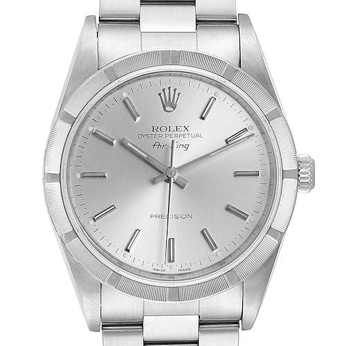 Photo of Rolex Air King Silver Dial 34mm Oyster Bracelet Steel Mens Watch 14010