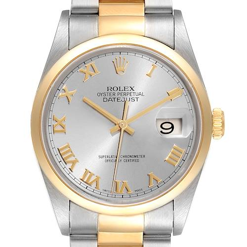 Photo of Rolex Datejust 36 Steel Yellow Gold Slate Dial Mens Watch 16203