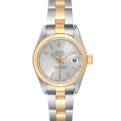 Photo of Rolex Datejust Steel 18k Yellow Gold Silver Dial Ladies Watch 79163