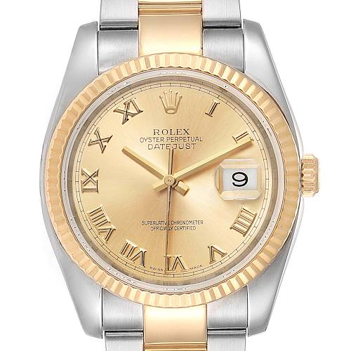 Photo of Rolex Datejust Steel Yellow Gold Oyster Bracelet Mens Watch 116233