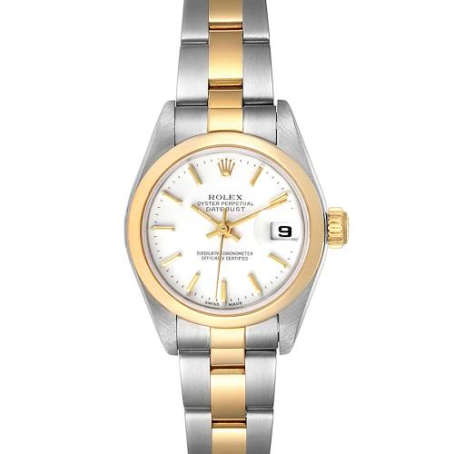 Photo of Rolex Datejust Steel Yellow Gold White Dial Ladies Watch 79163