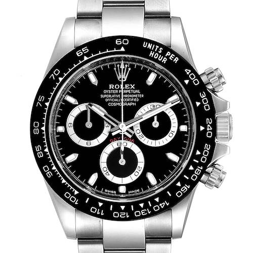 Photo of Rolex Daytona Ceramic Bezel Black Dial Chronograph Mens Watch 116500