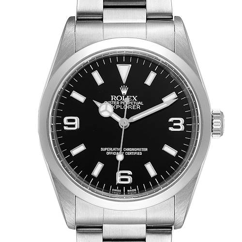 Photo of Rolex Explorer I Black Dial Stainless Steel Mens Watch 14270