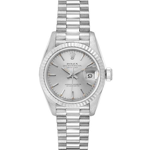 Photo of Rolex President Datejust 26 White Gold Silver Dial Ladies Watch 69179