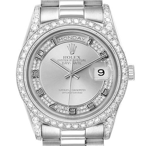 Photo of Rolex President Day-Date White Gold Myriad Diamond Mens Watch 18389