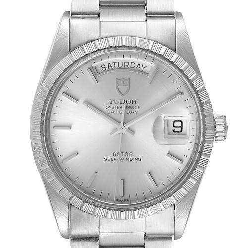 Photo of Tudor Prince Day Date Silver Dial Vintage Steel Mens Watch 94510