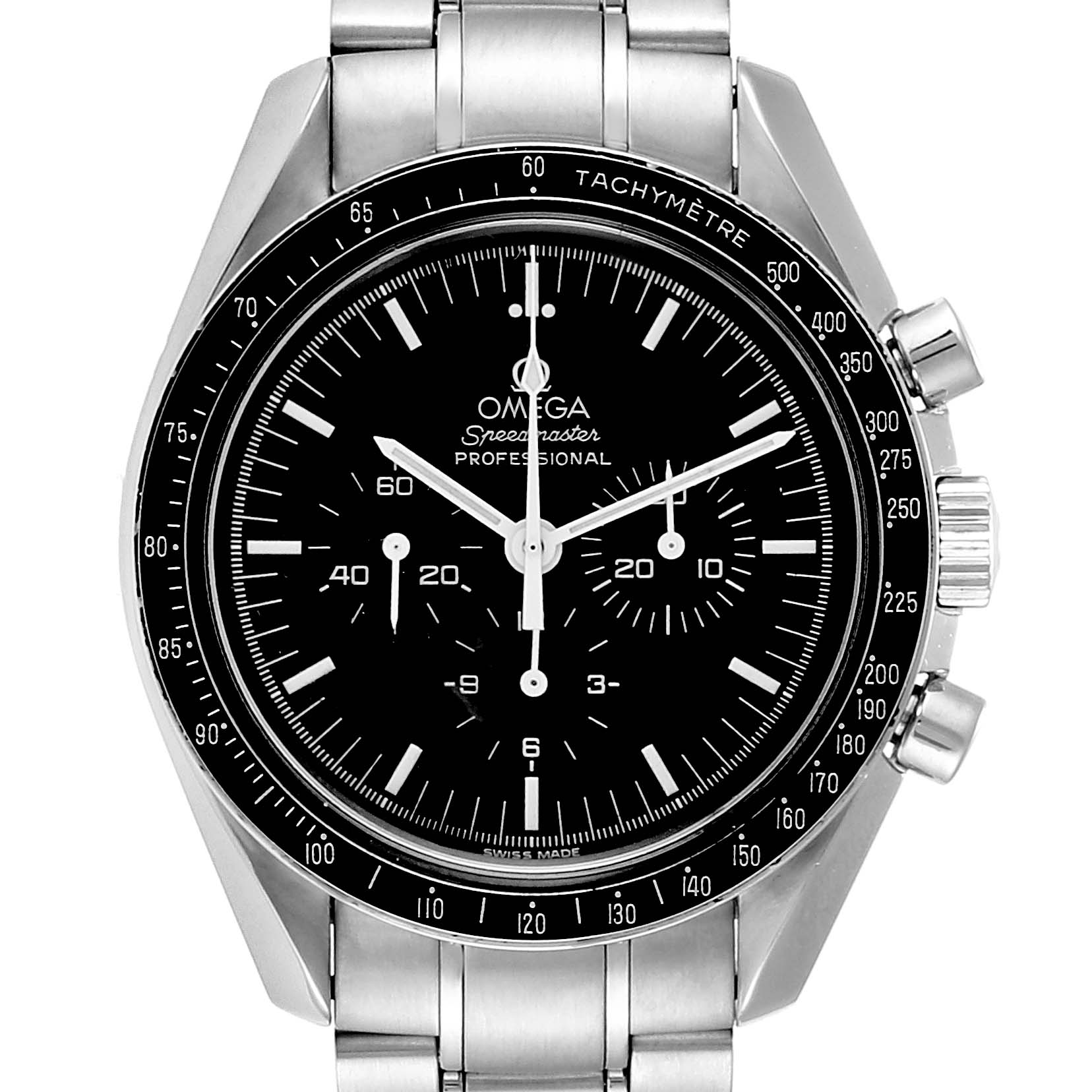 mega Speedmaster Chronograph Mens MoonWatch 3570.50.00 Box Card