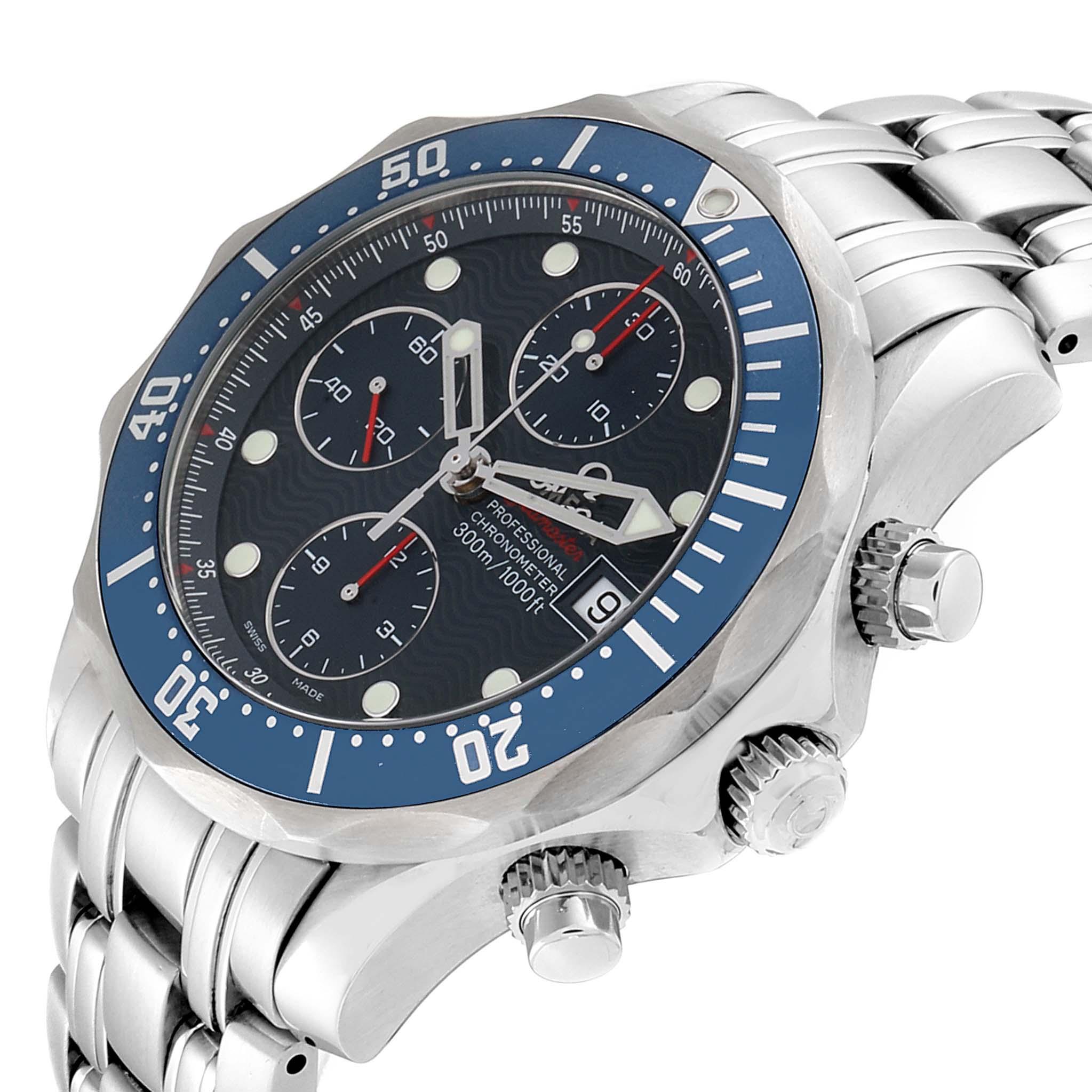 Omega Seamaster 300m Chronograph Automatic 41.5 mm Watch 2225.80.00 SwissWatchExpo