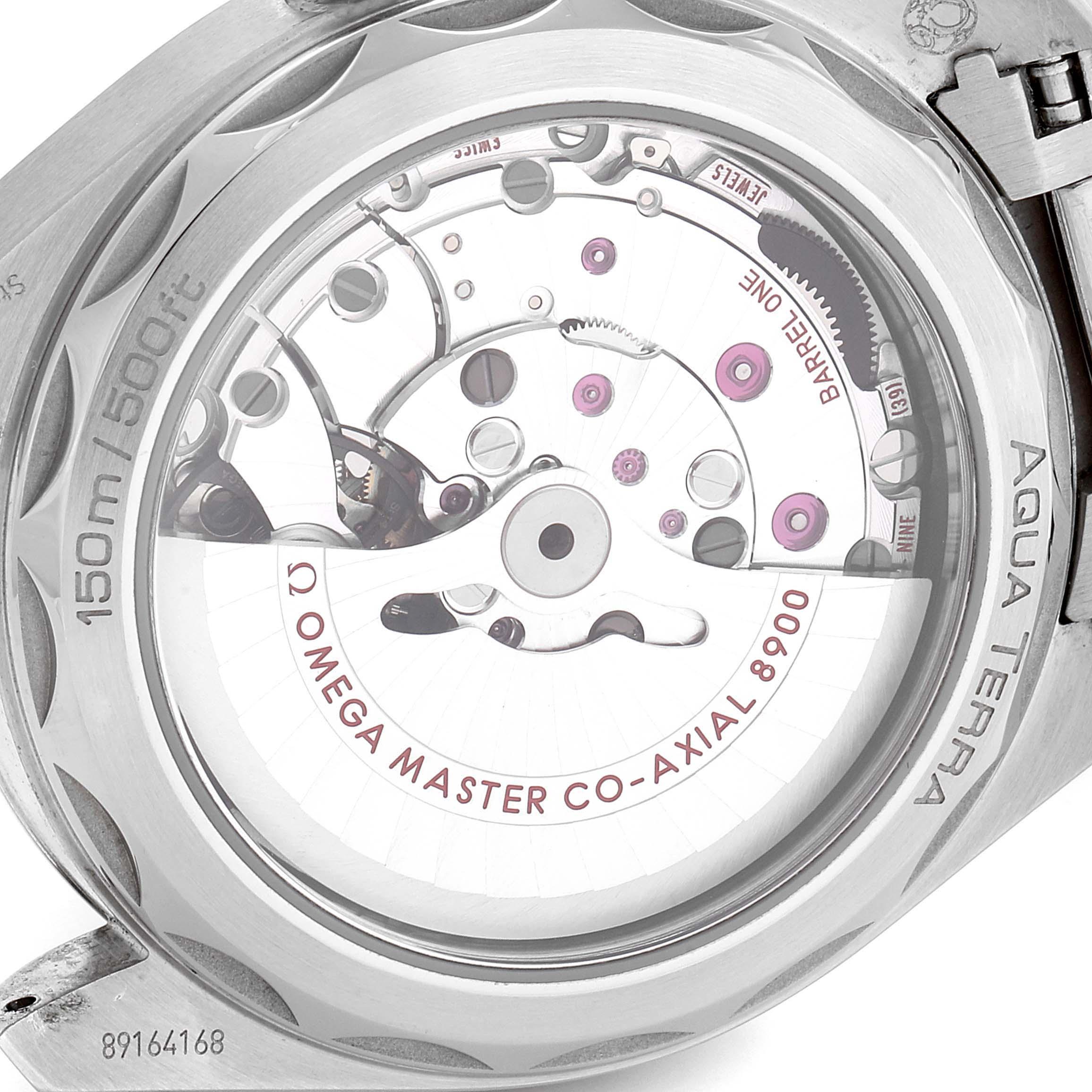 Omega Seamaster Aqua Terra Blue Dial Watch 220.10.41.21.03.001 Box Card SwissWatchExpo