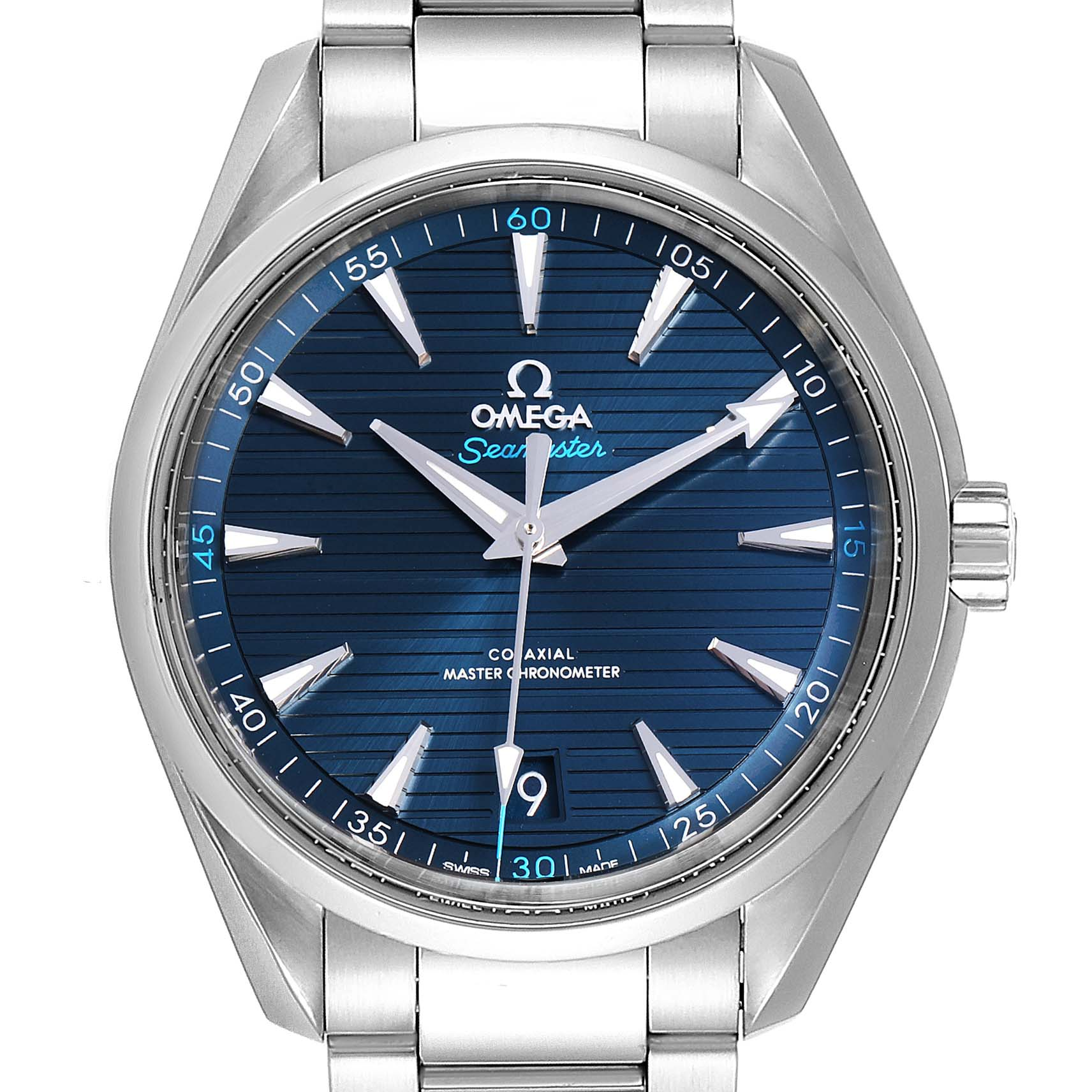 Omega Seamaster Aqua Terra Blue Dial Watch 220.10.41.21.03.001 Box Card